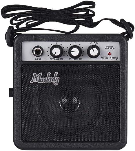 Muslady 5W Mini Altavoz Amplificador de Guitarra con Entradas de 3 ...