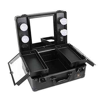 Amazoncom Luvodi Makeup Case With Dimmable Led Bulbs And Tilt