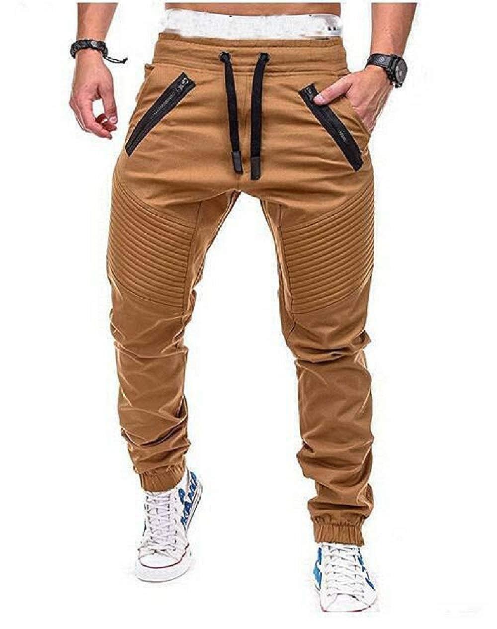 Franhais Mens Stretch Twill Drop Crotch Jogger Pants M-3XL