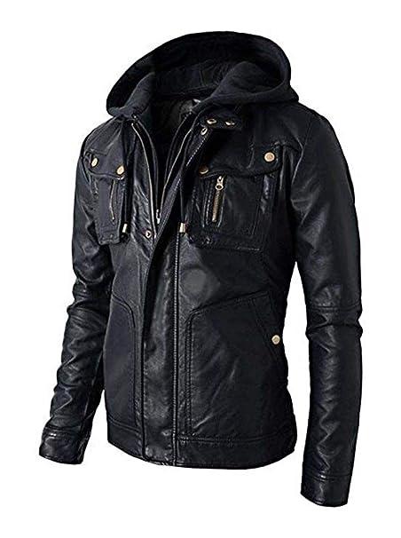 Amazon.com: Koza Leathers - Chaqueta de piel de cordero para ...