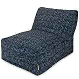 Majestic Home Goods Navajo Bean Bag Chair Lounger, Navy