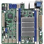 ASRock Intel Avoton C2750 2.4GHz/DDR3/SATA3/V&2GbE/Mini-ITX Motherboard and CPU Combo C2750D4I Color Box