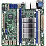 ASRock Intel Avoton C2750 2.4GHz/DDR3/SATA3/V&2GbE/Mini-ITX Motherboard and CPU Combo C2750D4I COLOR BOX