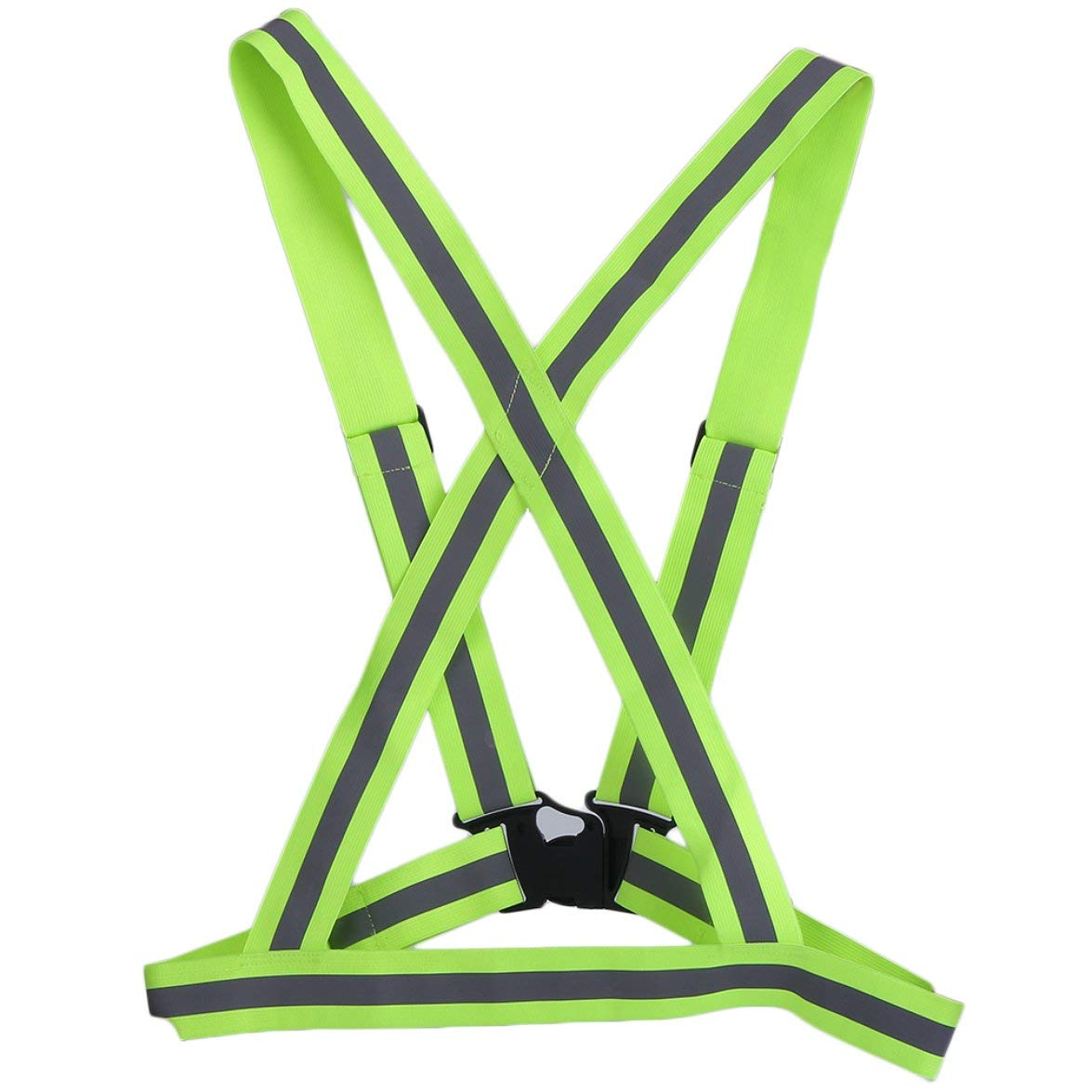 Kongqiabona High Elastic Traffic Night Work Security Running Cycling Safety Reflective Vest High Visibility Reflective Safety Vest Strip