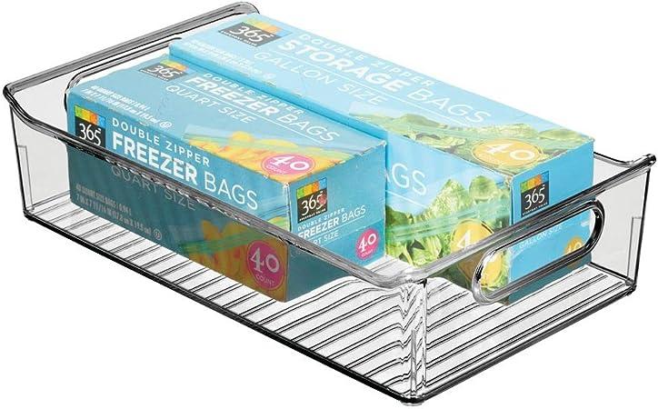 mDesign Fiambreras para el frigorífico – Cajas de plástico para guardar alimentos – Organizador de nevera para lácteos, frutas y otros alimentos – gris humo: Amazon.es: Hogar