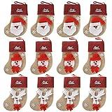 Ivenf 12 Pack 3D Burlap Mini Christmas Stockings - Best Reviews Guide