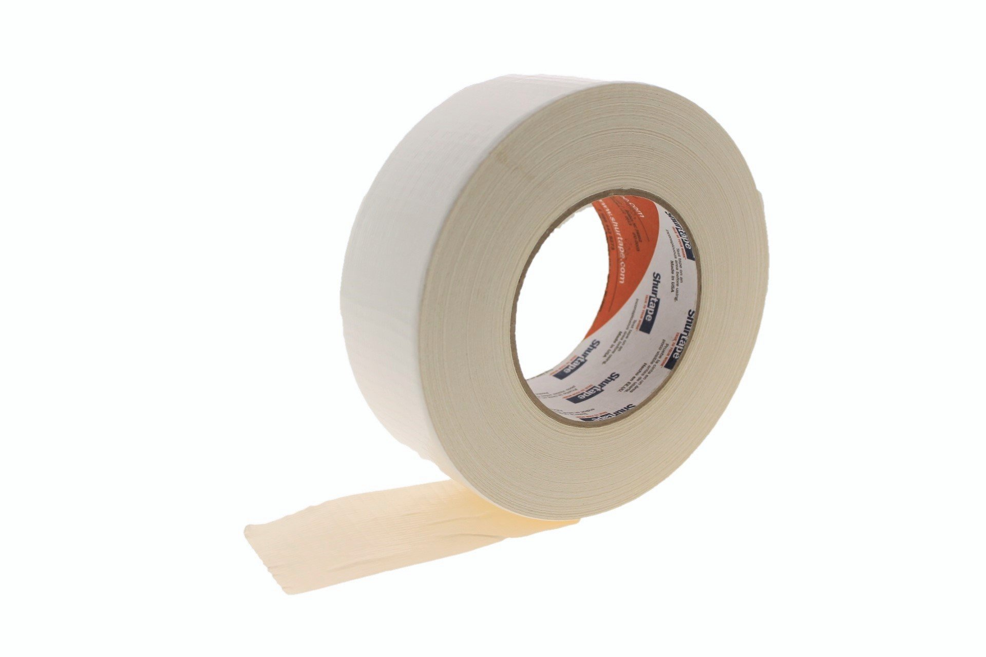 PC-600 Shurtape 2'' White 9 Mil Cloth Duct Tape Waterproof Hand Tearable UV Resistant High Visibility Industrial Grade Heavy Duty Pro Colored Duct Tape Colors USA Made 60yd by Shurtape