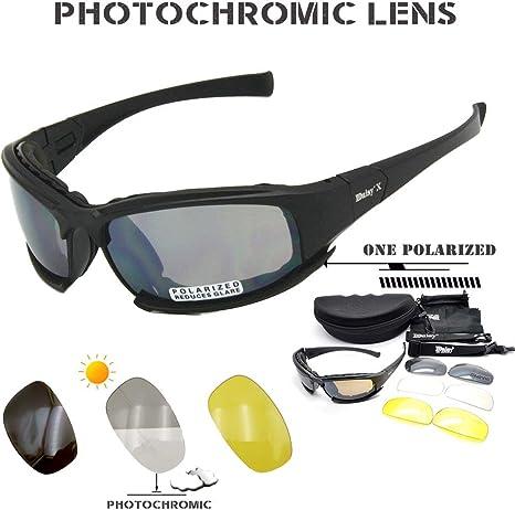 Daisy X7 - Gafas de Sol polarizadas tácticas para Hombre 4LS ...