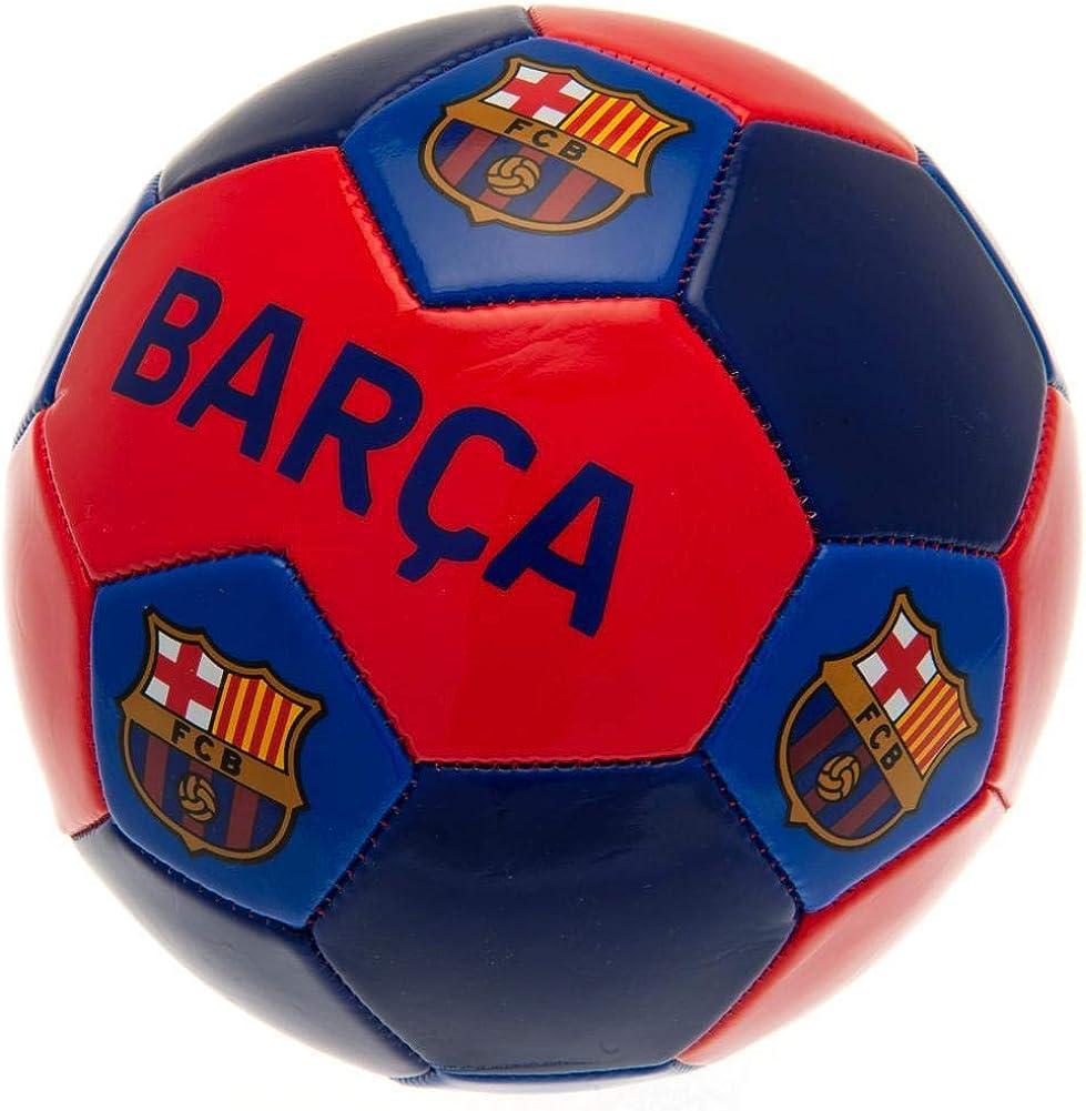 FCB Balón de fútbol del FC Barcelona - Azul - Talla única: Amazon ...
