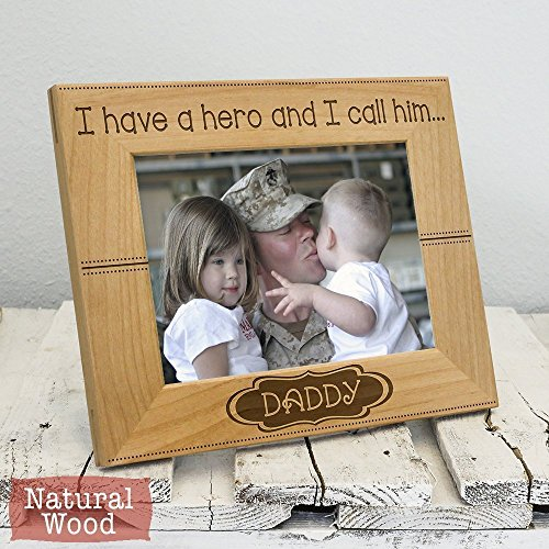Hero Daddy Frame - Father's Day Gift - Dad Christmas Gift - Dad Picture Frame - Dad Gift From Daughter - Dad Gift From Son - Dad Gift From Children