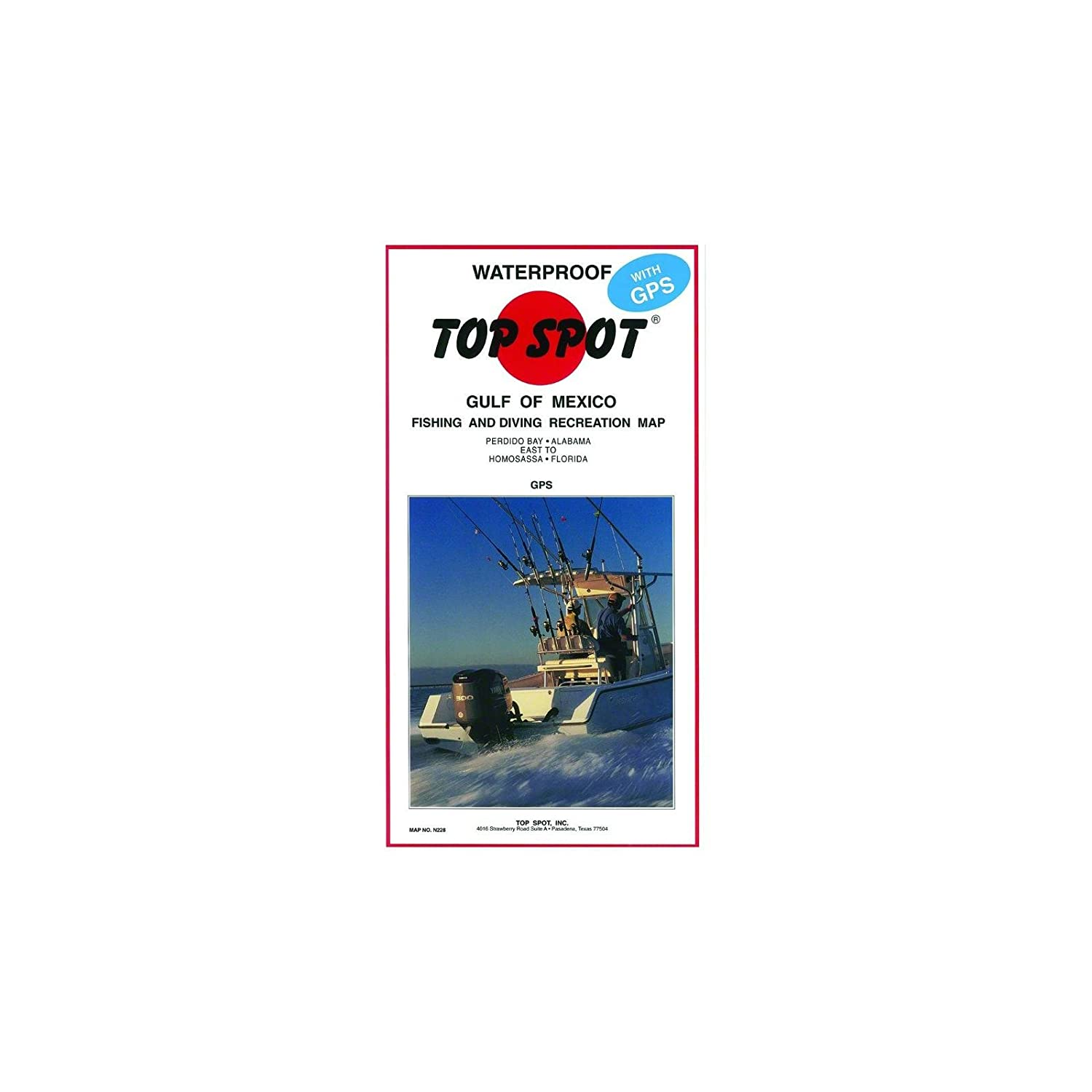 Amazoncom  Top Spot Map N228 Gulf of Mexico  Fishing Charts And