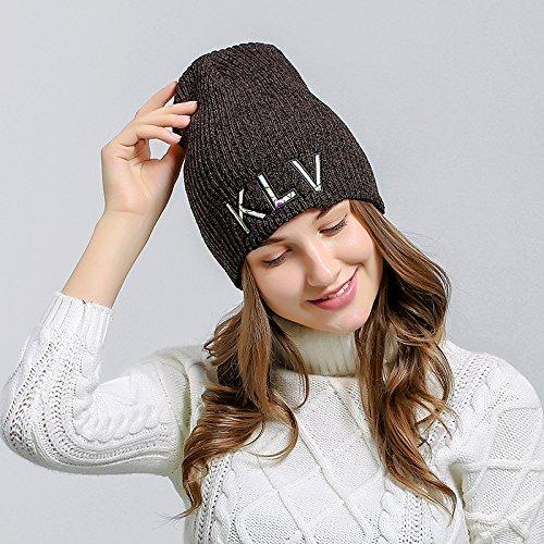Tricot Chapeau Hiver Crochet Ski Sport Bonnet Femme Homme Acvip Café Chaud AnYEET