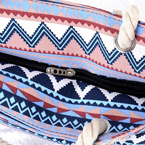 Shopping Ladies Women Travel For Bag Beach Pink Bag Tote Canvas Shoulder Bag Girls Bag Holiday AuBer and OUgzn7qn