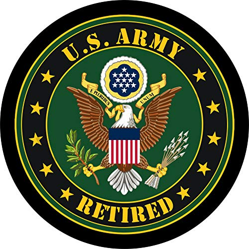 TIRE COVER CENTRAL US Army Seal Retired Spare Tire Cover 225/75R15fits Camper, Jeep, RV, Scamp, Trailer(Drop Down Size menu Avail)