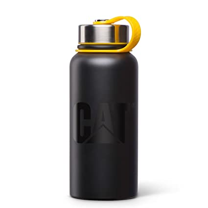 Caterpillar Stainless Steel Thermal Water Bottle, Black, 32 oz.