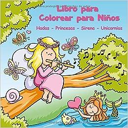 Libro Para Colorear Para Niños Hadas Princesas Sirena