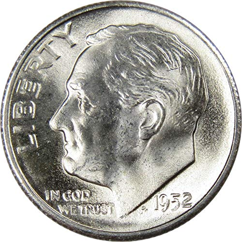 - 1952-S 10c Roosevelt Silver Dime Uncirculated Mint State