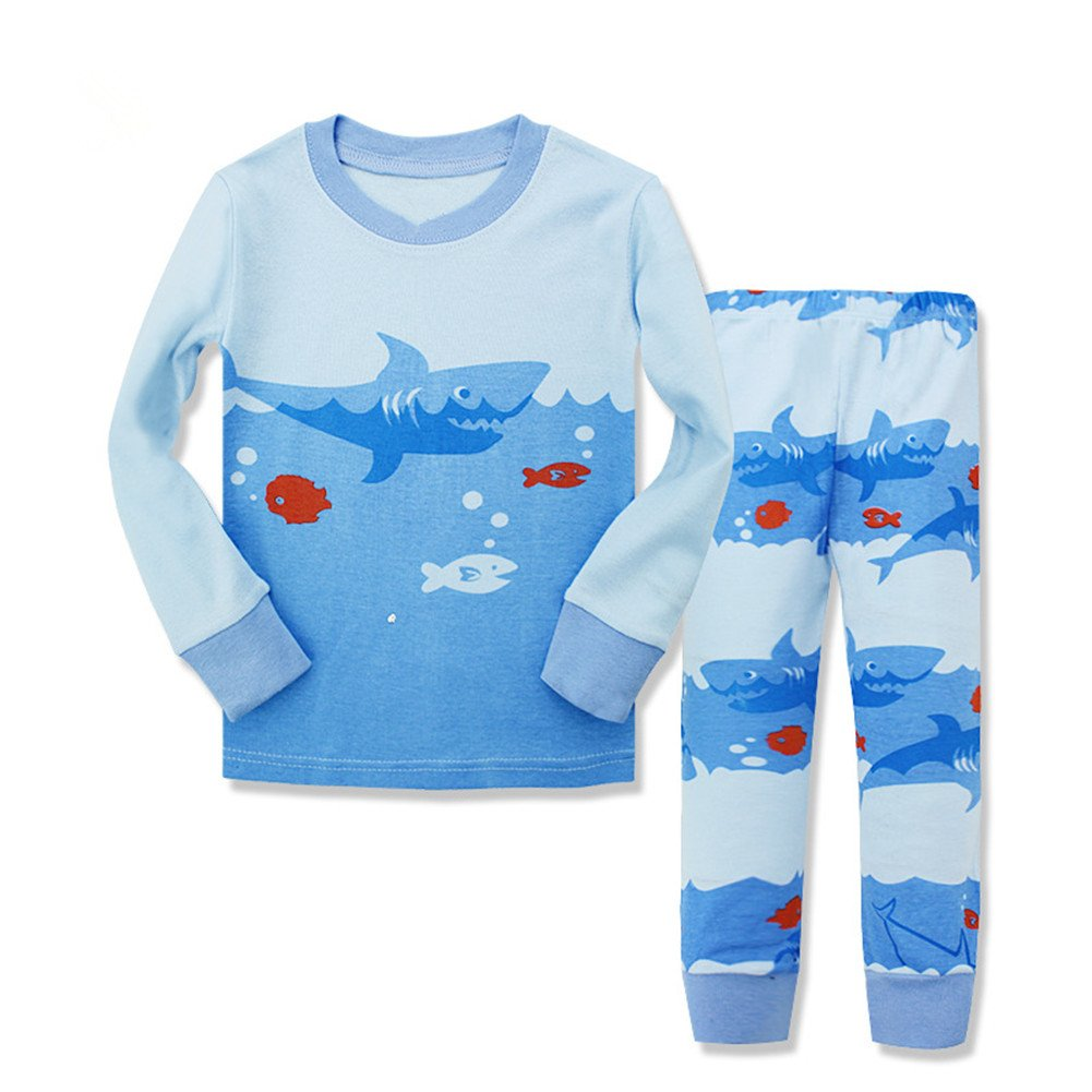 Kidslove Boys Pajama Sets 100% Cotton Sleepwear O-neck Size 2-7 Years