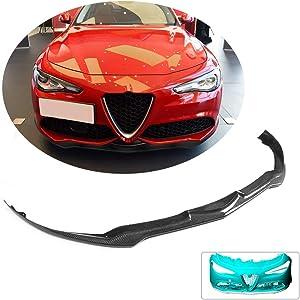 MCARCAR KIT Front Bumper Lip fits Alfa Romeo Giulia Sport Sedan 2015-2018 Factory Outlet Carbon Fiber CF Chin Spoiler Splitter Protector