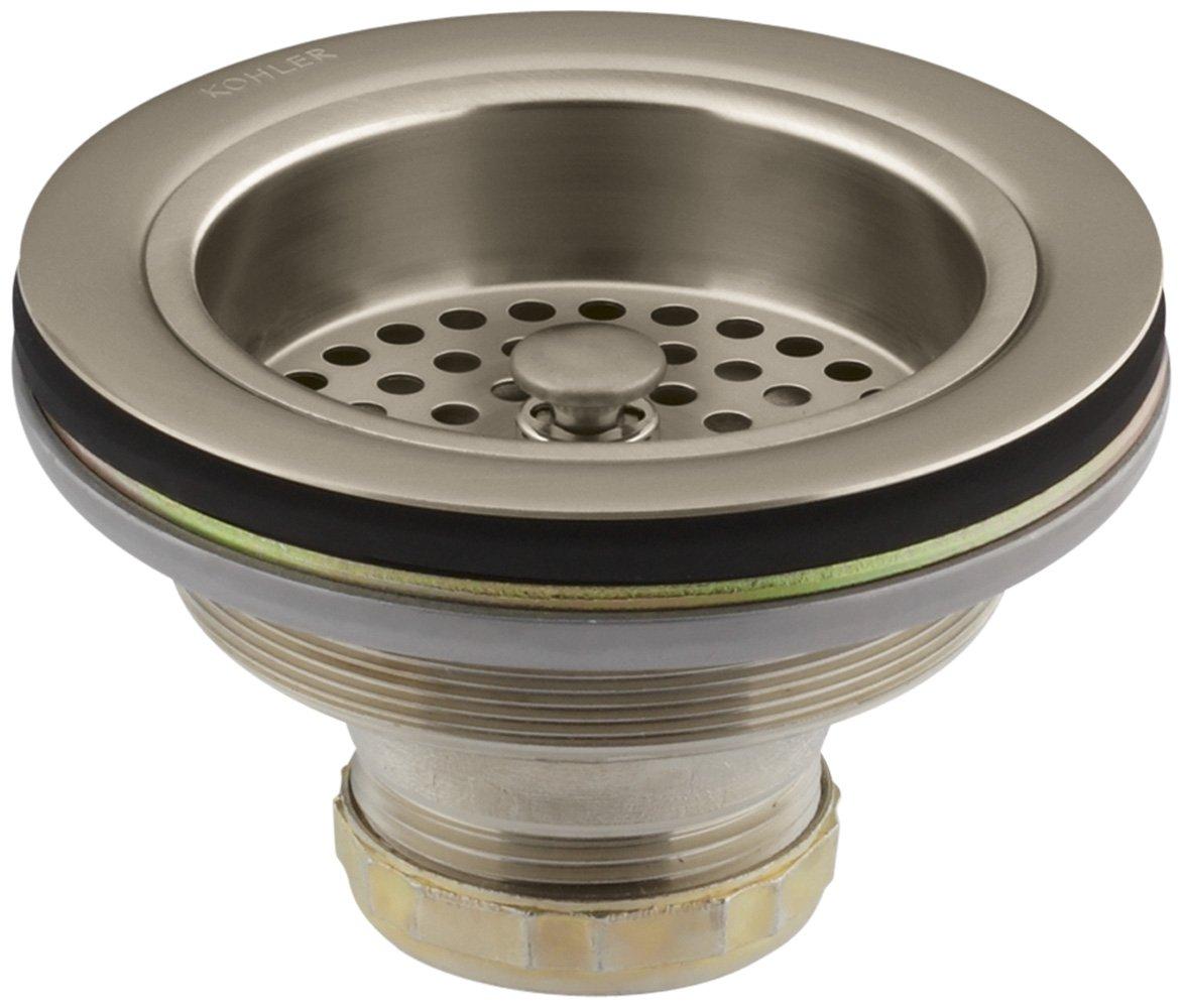 KOHLER K-8799-BV Duostrainer Sink Strainer, Vibrant Brushed Bronze by Kohler