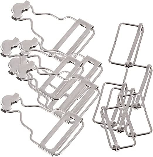 4 pcs Metal Dungaree Fastener Overall Clip Suspender Buckle Strap Adjuster
