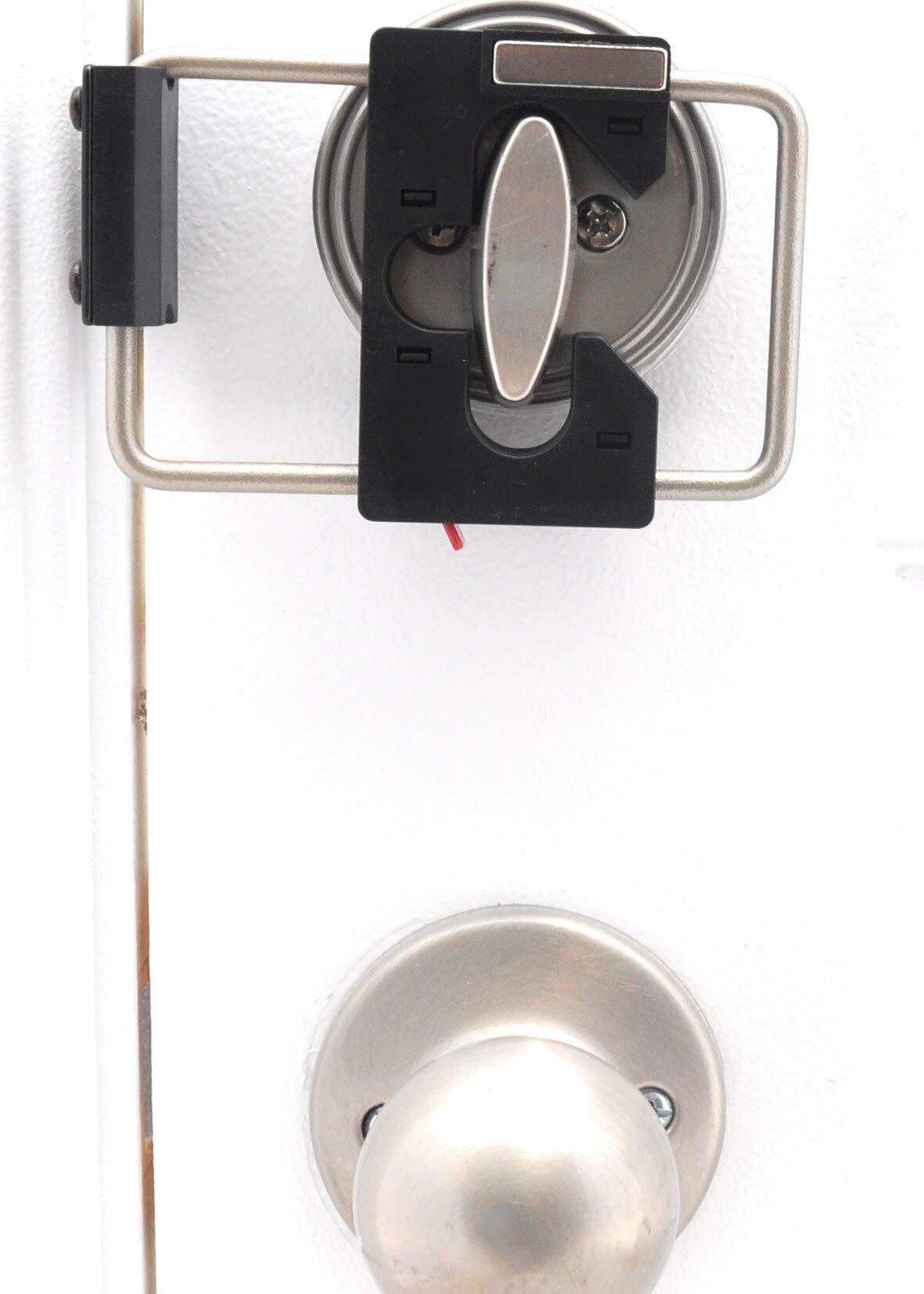 LOKmate Deadbolt Guard Door Lock Security - Magnet Version (Black/Satin Nickel)
