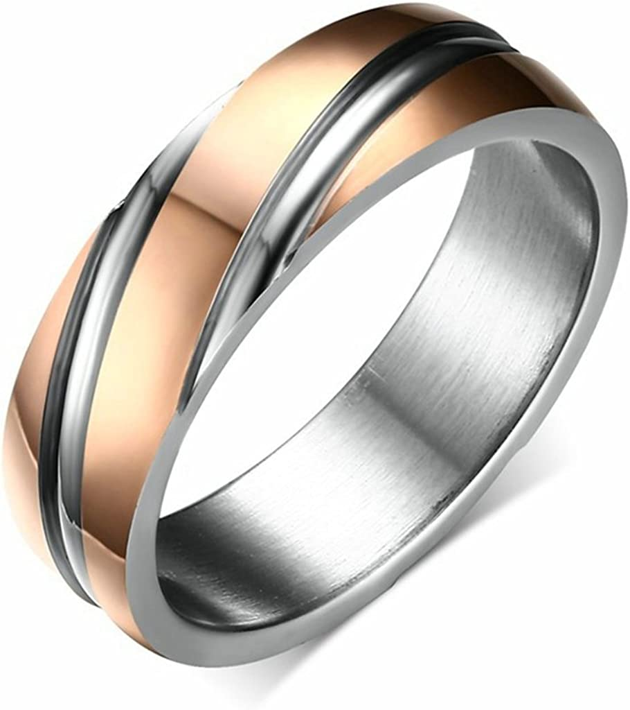 AMDXD Jewelry Stainless Steel Wedding Rings for Men Simple Design