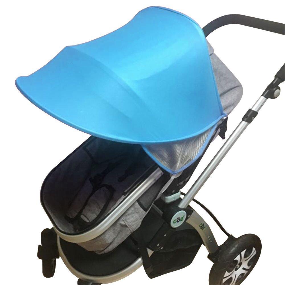 Toldo para cochecito de bebé, protección UV, resistente al viento, resistente al agua, paraguas universal para cochecito de bebé, con soporte duro arqueado rosa rosa Baby Stroller Awning