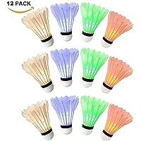 Lypumso LED Volant de Badminton, LED Badminton Birdies/Balle de Badminton Nuit Eclairage pour Les Activités Sportives Intérieur et Extérieur