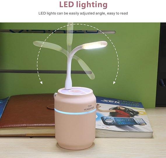 Luce Rosa di Notte del LED QUMOX Purificatore del nebulizzatore del diffusore dellumidificatore dellAria del USB 200ml