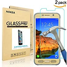 [2 PACK] Samsung Galaxy S7 Active Screen Protector, NOKEA [9H Hardness] [Crystal Clear] [Easy Bubble-Free Installation] [Scratch Resist] Tempered Glass for Galaxy S7 Active (for S7 Active)