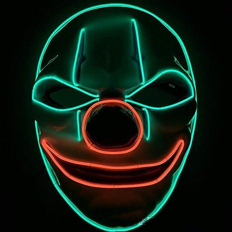Amazon.com: MLCCGB LED Mask Halloween,Halloween Máscara LED ...