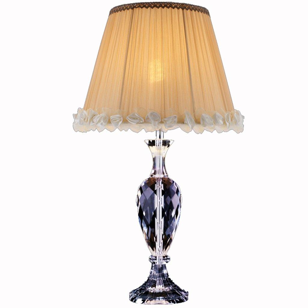 Hanlon E27-Schraubsockel, Tischlampe Europäische Luxus Kristall Lampe American Fashion Nordic Moderne Villa Wohnzimmer Schlafzimmer Bett Lampen ( größe : Große )