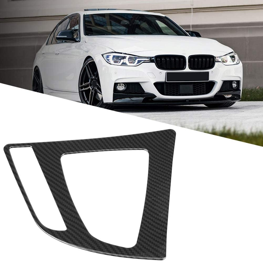 Carbon Fiber Style Center Control Gear Shift Panel Cover Trim Compatible with 3 Series F30 GTF34