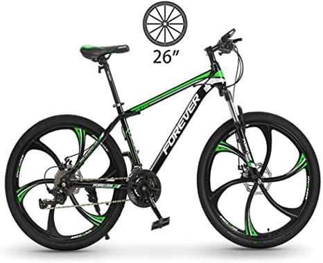 LXDDP Bicicleta montaña, Bicicleta Doble Freno 6 radios, Bicicleta Carreras Todoterreno con absorción Impactos, Bicicleta Doble Velocidad Variable para Estudiantes para Adultos y Adolescentes: Amazon.es: Deportes y aire libre