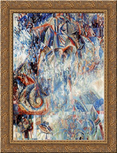 Formula of the Cosmos 24x18 Gold Ornate Wood Framed Canvas Art by Pavel Filonov ()