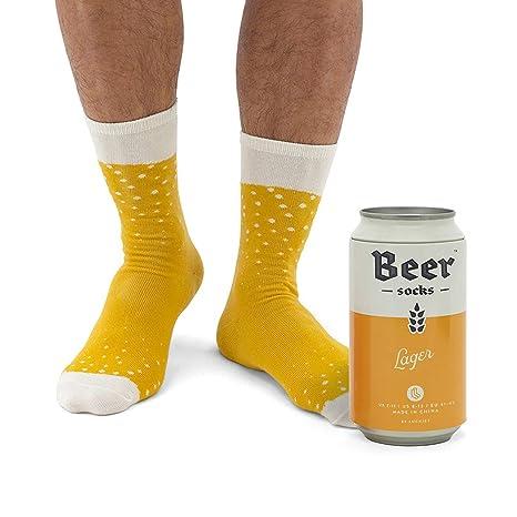Novelty Beer Socks - Colorful Socks for Men, Made from Soft Cotton Nylon - Funny