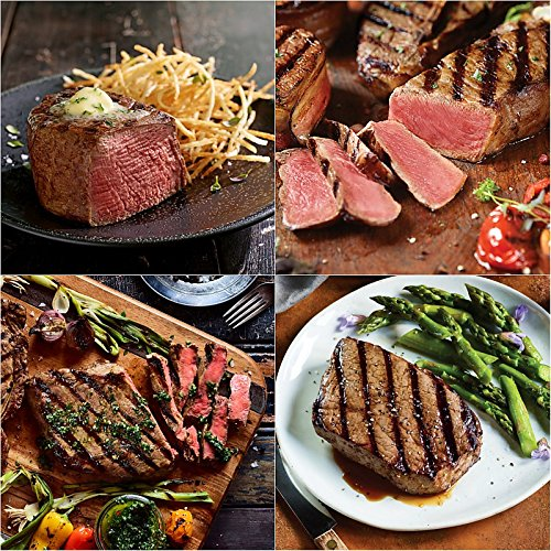 Essential Duo Junior - 2 (6 oz) Super Trimmed Filet Mignon, 2 (6 oz) Top Sirloin, 2 (10 oz) Boneless Ribeyes and 2 (10 oz) Kansas City ()