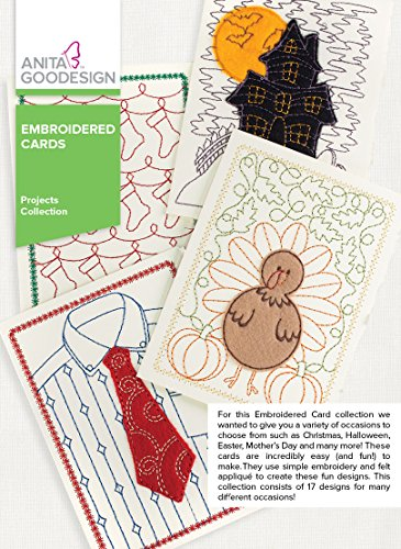Anita Goodesign Embroidery Designs - Embroidered Cards by Anita Goodesign