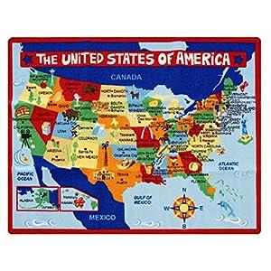 Amazoncom Teach Me US Map Learning Carpets Educational Play Mat - Us photo map mat