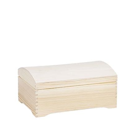 Grandes 3,6 litros Caja de madera redondo tapa Cofre del Tesoro Caja de madera