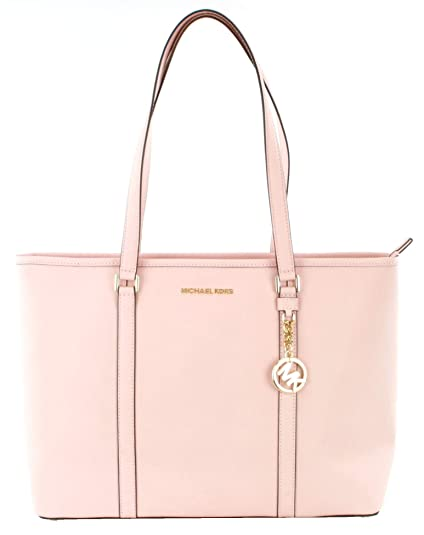 new product recognized brands matching in colour Michael Kors Sady Saffiano Leather Pink Shopper Tote Bag ...