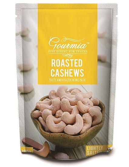 Gourmia Roasted Cashews, Lightly Salted, 200g