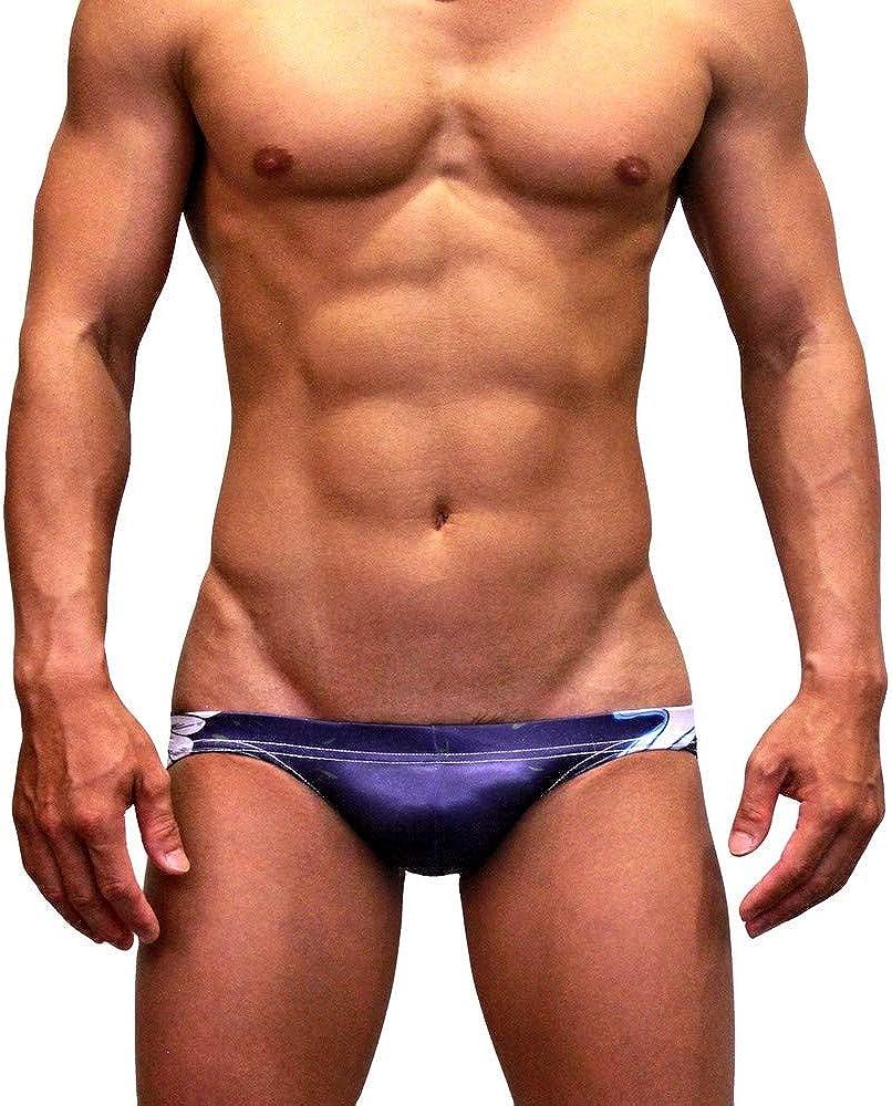 Costume da Bagno a Slip da Uomo Taglio Basso Bikini Bandiere Nazionali Neptune Scepter Sfoderato