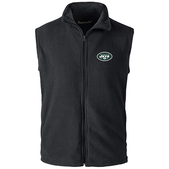 free shipping 818a7 f0a8c NFL New York Jets Mens Houston Fleece Vest, Black, Small