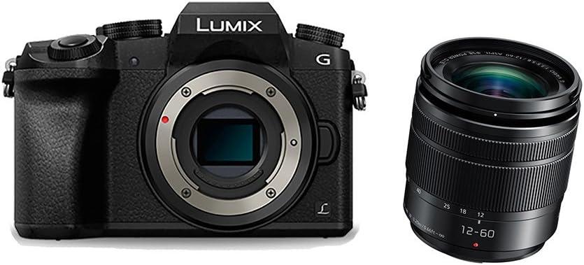 Panasonic Lumix DMC-G7M + 12-60 ASPH MILC 16 MP Live MOS 4592 x 3448 Pixeles Negro - Cámara digital (16 MP, 4592 x 3448 Pixeles, Live MOS, 4K Ultra HD, Pantalla táctil, Negro)
