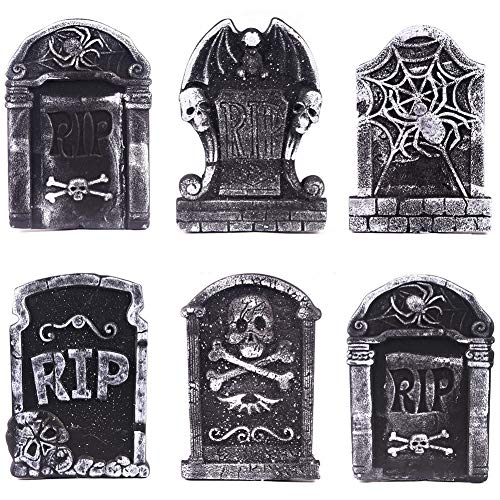 Yiwa Halloween Foam Tombstone for Haunted House Grisly Props Party Decor Yard -