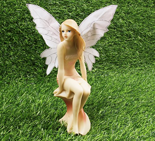 Fairy Garden Fairy – Garden Girl for Outdoor or House Decor, Hand Painted Resin Figurines, for Garden Indoor Decor Gift Style B For Sale