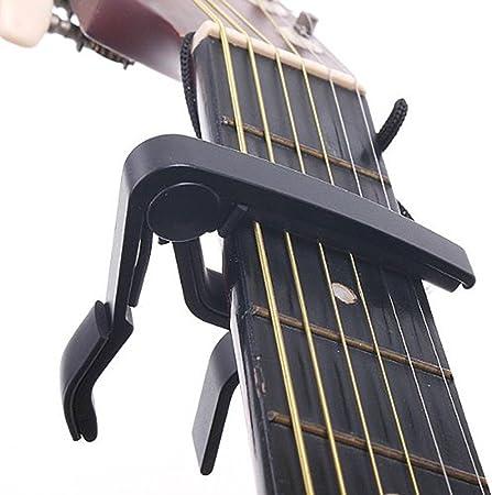 SAVFY Capó para guitarra Negro