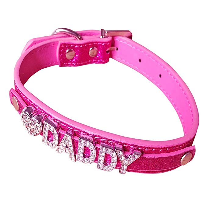 Amazon.com: Daddy Dom DDLG/ABDL - Collar de piel: Clothing